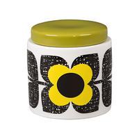 Scribble Square Flower Sunshine Storage Jar