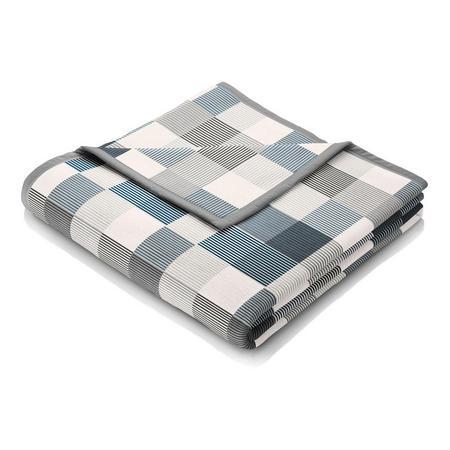 Blanket Cotton Check Marino