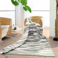 Blanket Cotton Chevron Olive