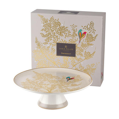 Chelsea Collection Footed Cake Plate Light Grey