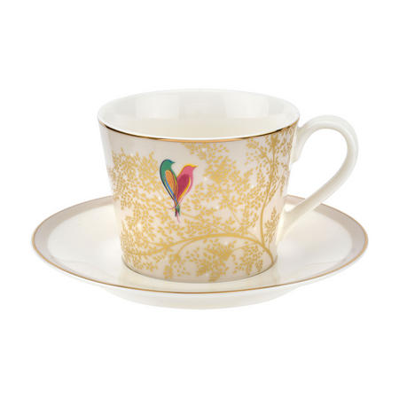 Chelsea Collection Tea Cup & Saucer Light Grey