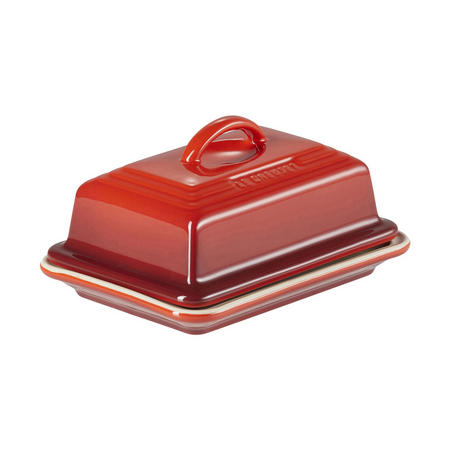 Stoneware Butter Dish Cerise