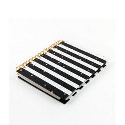 Monochrome Foiled Dot Stripe Organiser