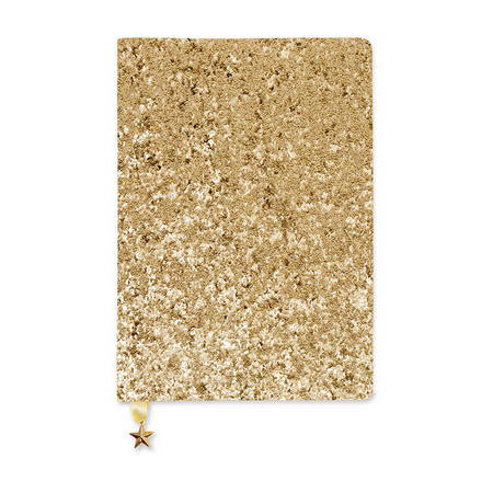 All That Glitters A5 Notebook Sequin Gold