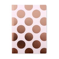 Shimmer Pink Champagne A5 Notebook Large Polka