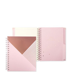 Shimmer Pink Champagne A5 Organiser Geo