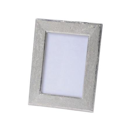 Brushed Silver Aluminium Photoframe 4x6 Inch