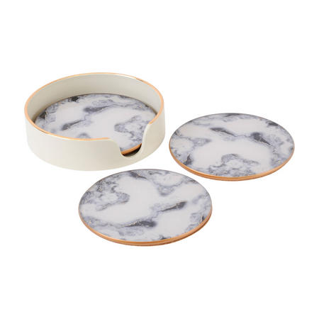 Tangiers Gold Libra Marble Coasters