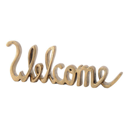 Welcome Sign Sculpture