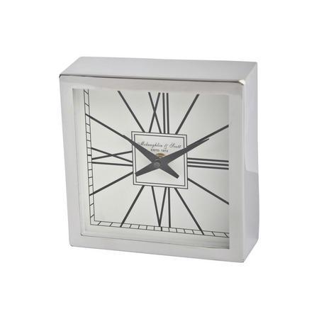 Classic Style Square Block Mantel Clock