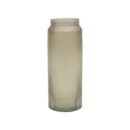 Phoenix Ribbed Cylindrical Vase