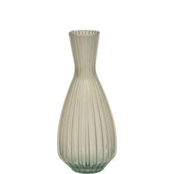 Priya Ribbed Tapered Taupe Vase Large