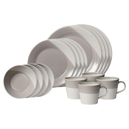 Bowls of Plenty 16 Piece Set Grey