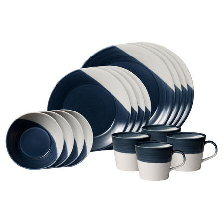 Bowls of Plenty 16piece Dark Blue