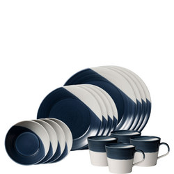 Bowls of Plenty 16 Piece Dark Blue