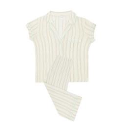 Striped Cropped Pyjama Set