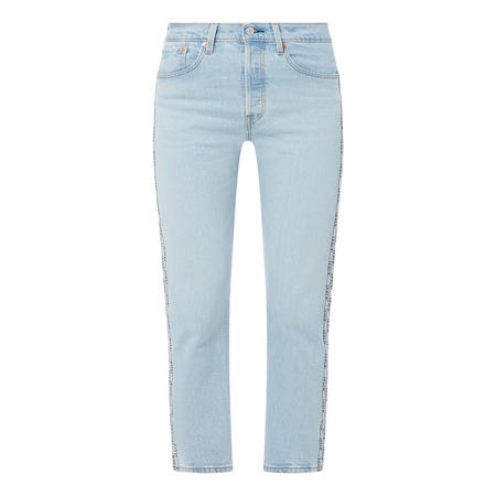 501 Original Taped Cropped Jeans
