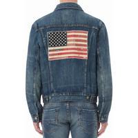 Flag Denim Trucker Jacket