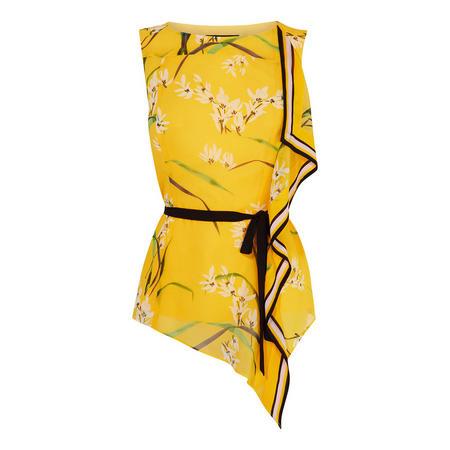 Tie-Waist Floral Top