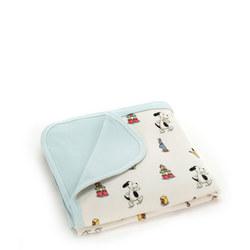 Bashful Puppy Jersey Blanket
