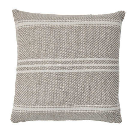 Oxford Stripe Cushion Chinchilla