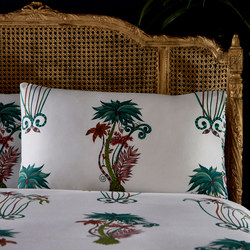 Jungle Palms Standard Pillowcase White