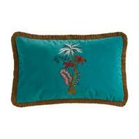 Jungle Palms Cushion Teal