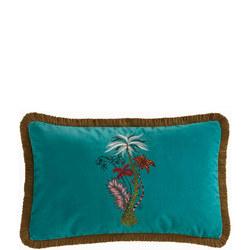 Jungle Palms Cushion Teal 30 x 50cm