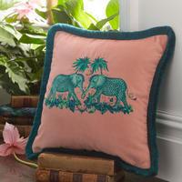 Zambezi Cushion Peach 43 x 43cm