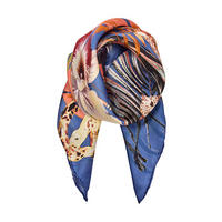 Luxe Kingdom Cheetah Floral Scarf