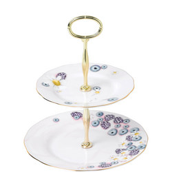 Alpha Foodie  2-Tier Cake Stand Pink