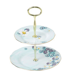 Alpha Foodie 2-Tier Cake Stand Turquoise