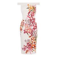 Orchid Floral Pencil Dress