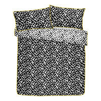 Eton Duvet Set Black & White