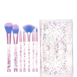 Aquarium Liquid Glitter Makeup Brush Set & Pouch