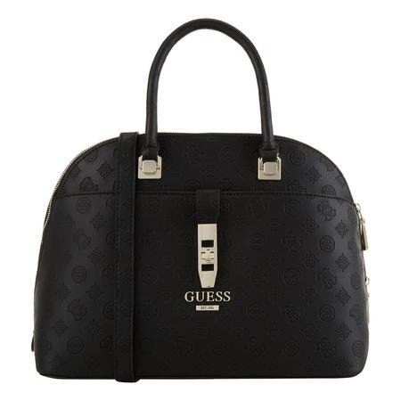 Logo Embossed Dome Satchel