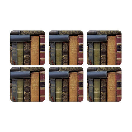 Archive Books Set of 6 Coasters