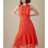 Ruffled Hem Midi Dress