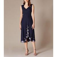 Floral Hem Midi Dress