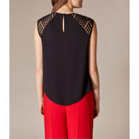 Embroidered Lace Sleeveless Blouse