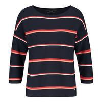 Striped Crop Sleeve Sweater