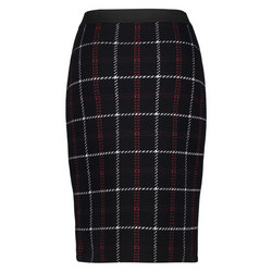 Knitted Check Pencil Skirt