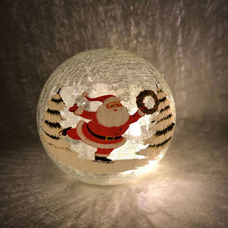 Crackle Effect Santa Light 20cm