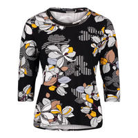 Floral Print Crop Sleeve Top