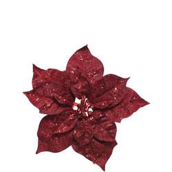 Clip-On Glittering Poinsettia