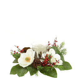 Magnolia Wreath With Holder 15cm