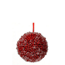 Red Ball With Snow