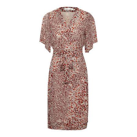 Tally Ditsy Print Wrap Dress