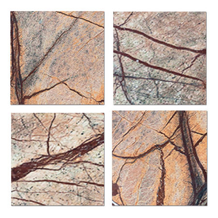 Marble Square Coasters 10cm