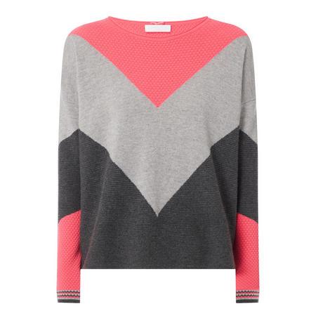 Block Waffle Cashmere Sweater